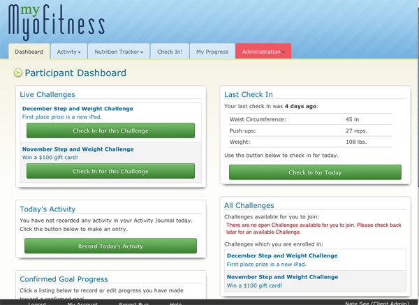 Corporate Wellness Portal